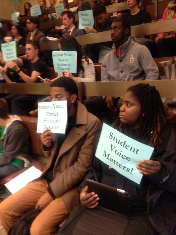 BSAC hearing on student vote