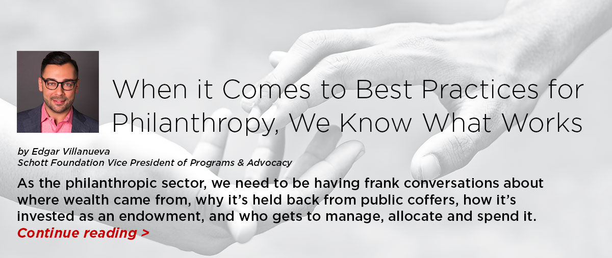 When it Comes to Best Practices for Philanthropy, We Know What Works