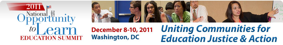 2011 National Opportunity to Learn Education Summit