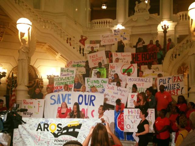 PA educators and activists rally