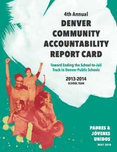 4th Annual Denver Community Accountability Report Card