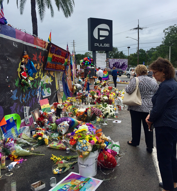 Memorial site at Pulse Nightclub Photo by Rafael Torres